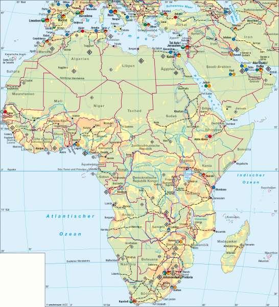 Karte Afrika.Diercke Weltatlas Kartenansicht Afrika Wirtschaft übersicht