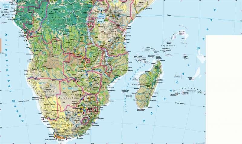 Afrika südlicher Teil | Wirtschaft | Afrika südlicher Teil – Wirtschaft | Karte 142/1