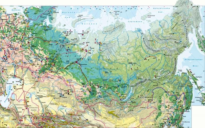 Nordasien | Wirtschaft | Nordasien - Wirtschaft | Karte 154/1