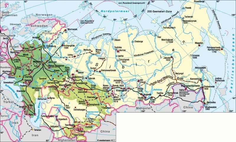 Sibirien | Erschließung | Sibirien | Karte 156/1