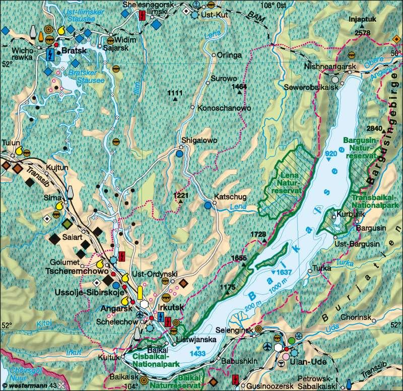 Baikalsee | Wirtschaft | Sibirien | Karte 156/2
