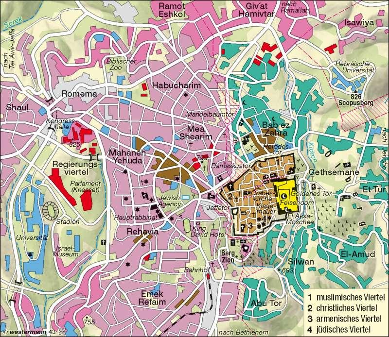 Jerusalem Karte Heute.Diercke Weltatlas Kartenansicht Jerusalem 978 3 14
