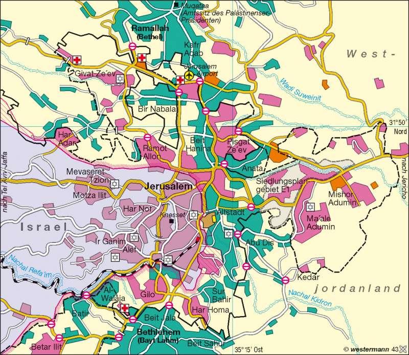 Großraum Jerusalem      Naher Osten   Karte 160/2