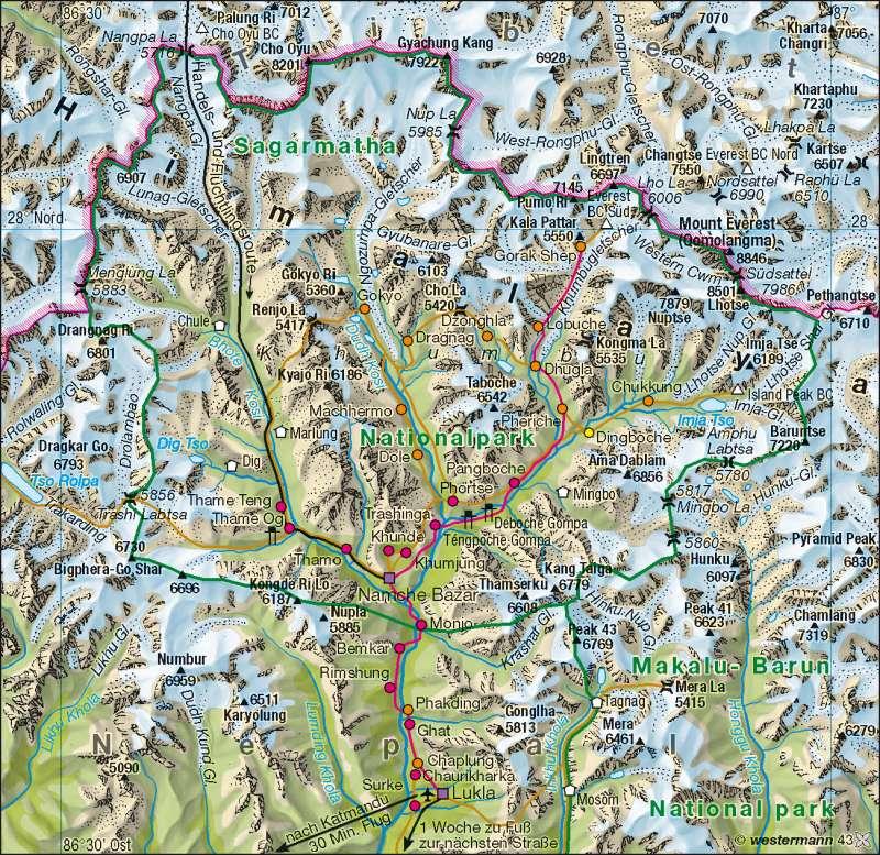 Himalaya | Tourismus | Südasien | Karte 166/2