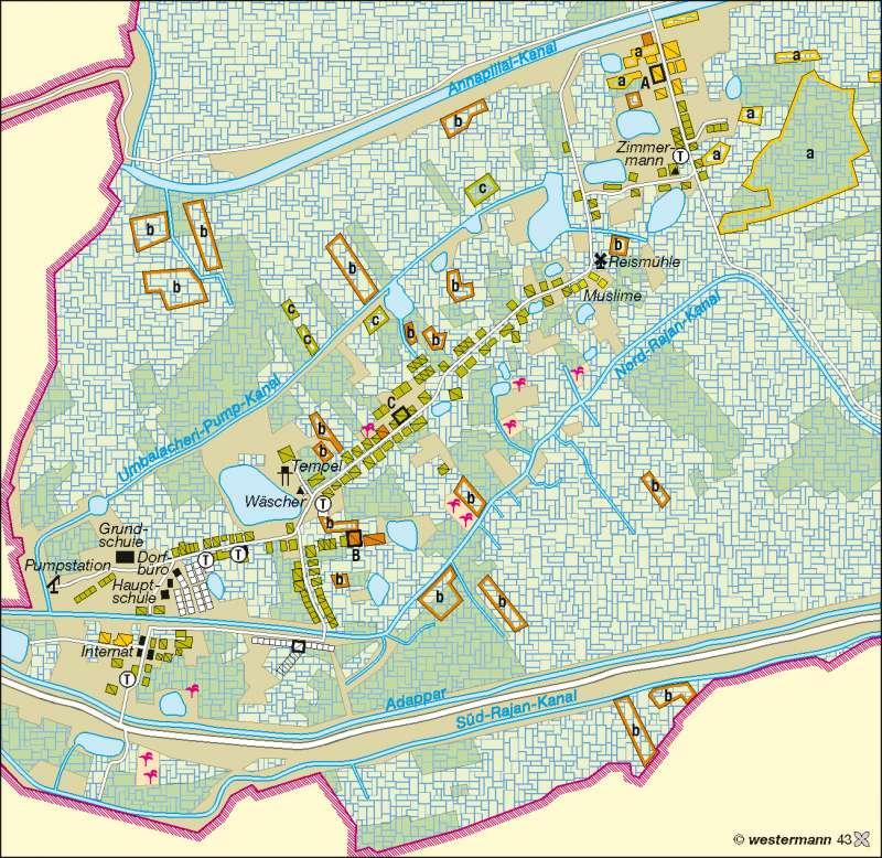 Umbalacheri   Landbesitz/Anbau   Südasien   Karte 167/6