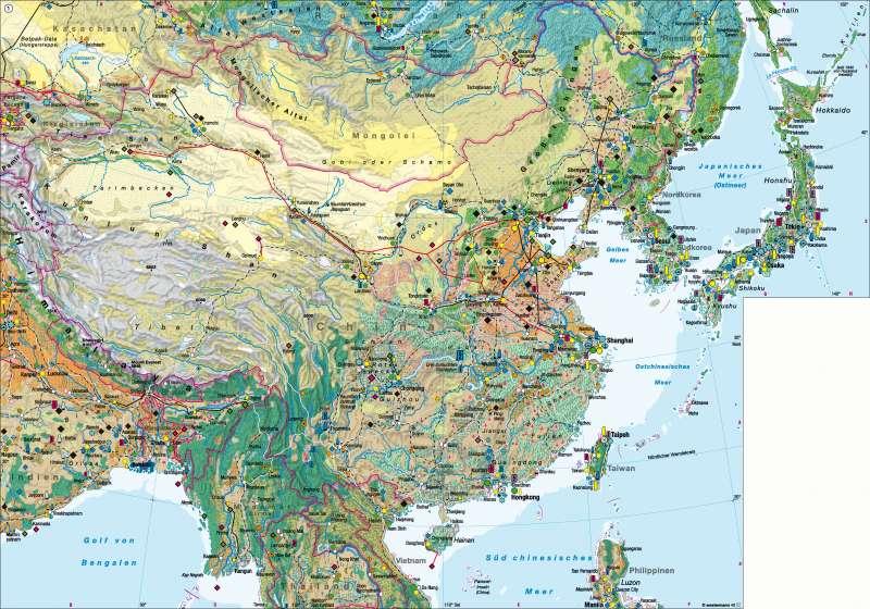 Ostasien (China) | Wirtschaft | Ostasien (China) - Wirtschaft | Karte 170/1