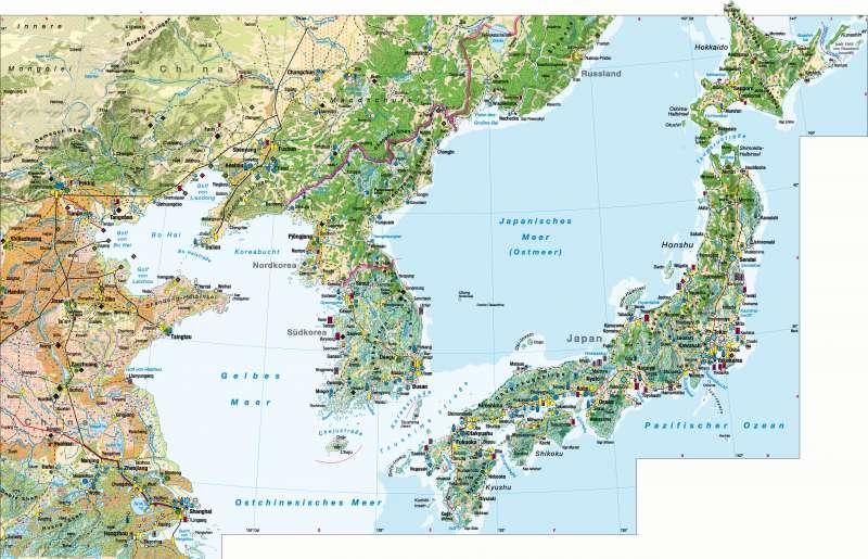 Ostchina/Korea/Japan | Wirtschaft | Ostchina/Korea/Japan - Wirtschaft | Karte 174/1