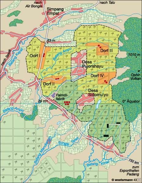 Ophir (West-Sumatra) | Ölpalmenplantage | Singapur/Indonesien | Karte 177/2