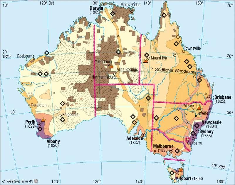 Ureinwohner (Aborigines)/Einwanderung |  | Australien | Karte 184/1