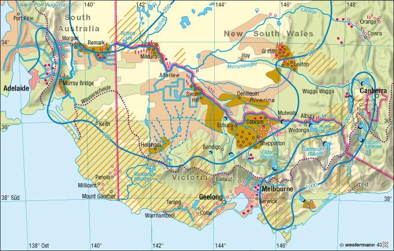 Südostaustralien | Wasserversorgung | Australien | Karte 184/3