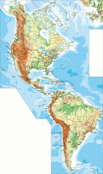 Physische Übersicht      Amerika – physische Übersicht   Karte 144/1