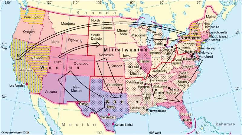 Minderheiten |  | USA - Bevölkerung | Karte 194/2