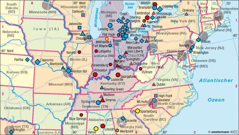 Diercke Weltatlas - Kartenansicht - USA - Entwicklung der ...