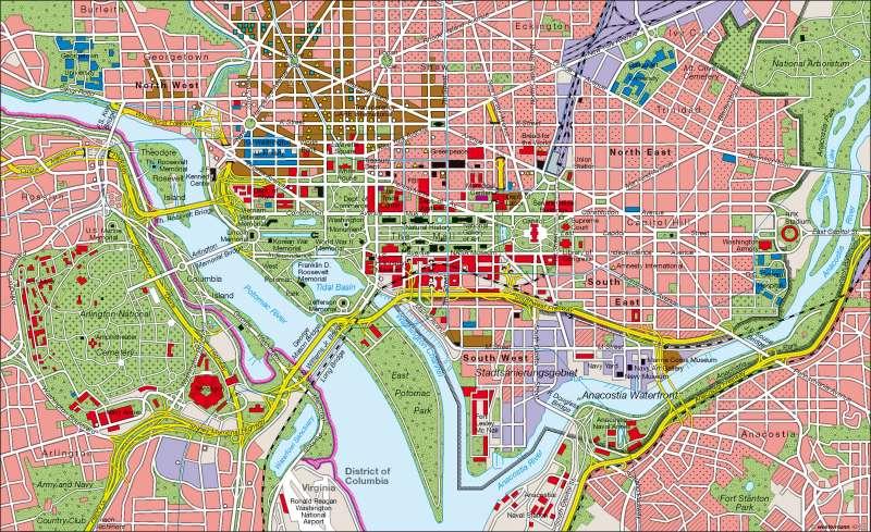 Washington Dc Karte.Diercke Weltatlas Kartenansicht Washington D C Machtzentrum