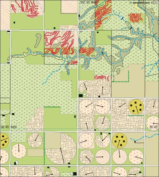 Texhoma (Oklahoma) | Landnutzung | Nord- und Mittelamerika – Klima | Karte 146/4