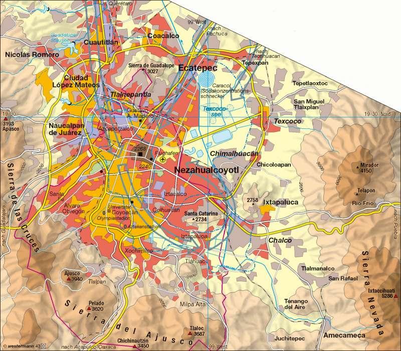 Mexiko Karte Welt.Diercke Weltatlas Kartenansicht Mexiko Stadt