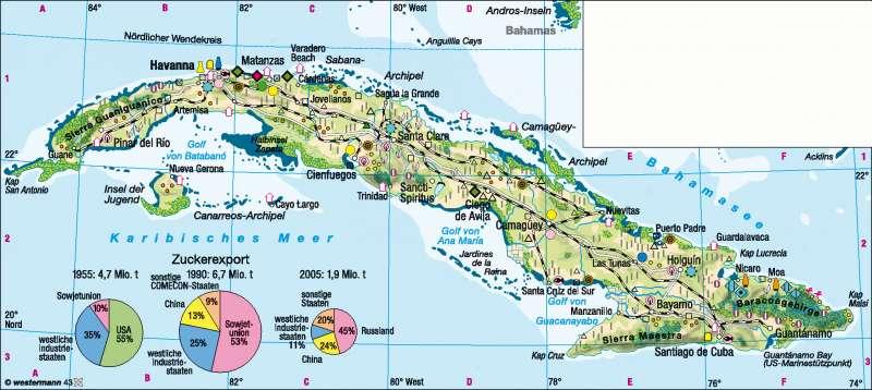 Karte Kuba Karte Auf Land Kuba