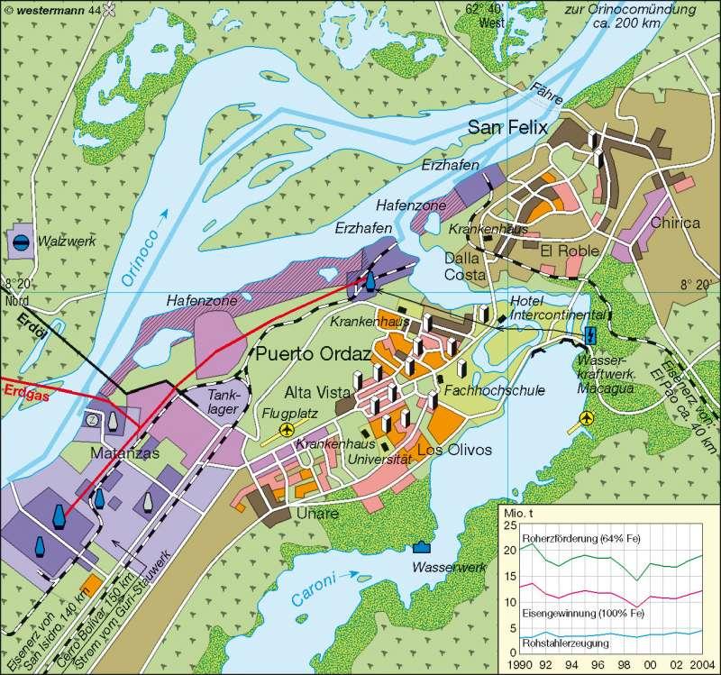 Ciudad Guayana | Entwicklungspol | Kolumbien/Venezuela | Karte 211/4