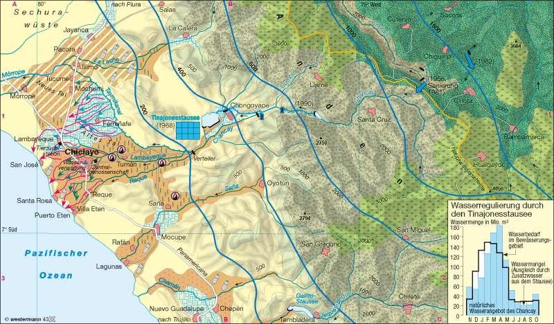 Peru Karte.Diercke Weltatlas Kartenansicht Tinajones Peru Bewässerung