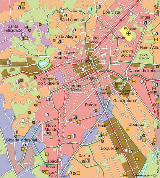 curitiba brasilien karte Diercke Weltatlas   Kartenansicht   Curitiba   nachhaltige