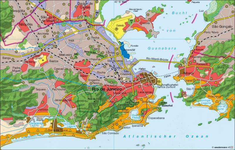 Rio de Janeiro | Segregation | Brasilien | Karte 218/3