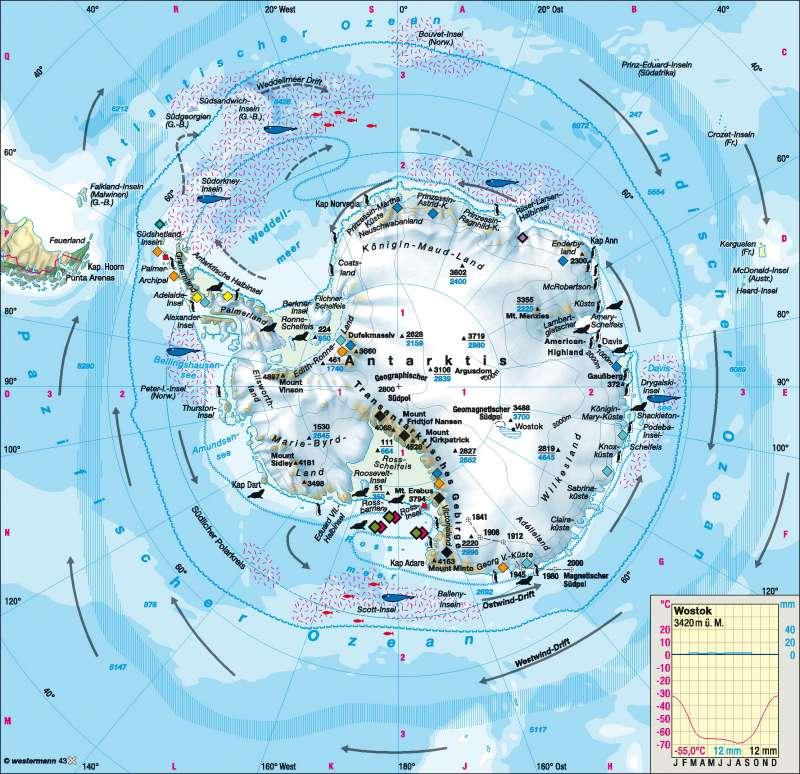 Südpolargebiet (Antarktis) |  | Polargebiete | Karte 167/4