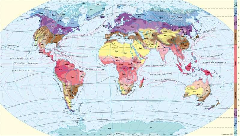 Klimate der Erde nach Siegmund/Frankenberg |  | Erde - Klima | Karte 226/1