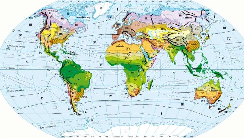 Jahreszeitenklimate nach Troll/Paffen |  | Erde - Klima und Niederschläge | Karte 228/1