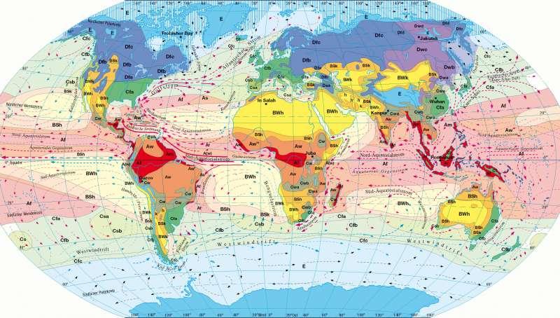 Klimate der Erde nach Köppen/Geiger |  | Erde - Klima und Niederschläge | Karte 229/3