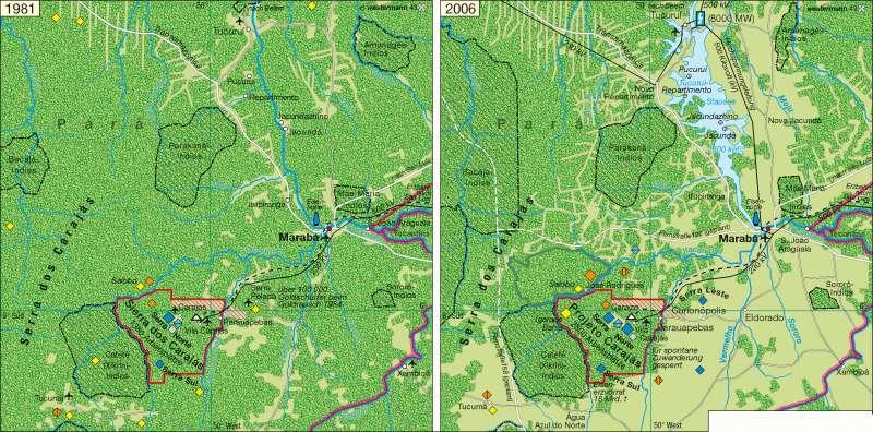 Serra dos Carajás | Rohstofferschließung | Erde - Energie und Umwelt | Karte 243/4
