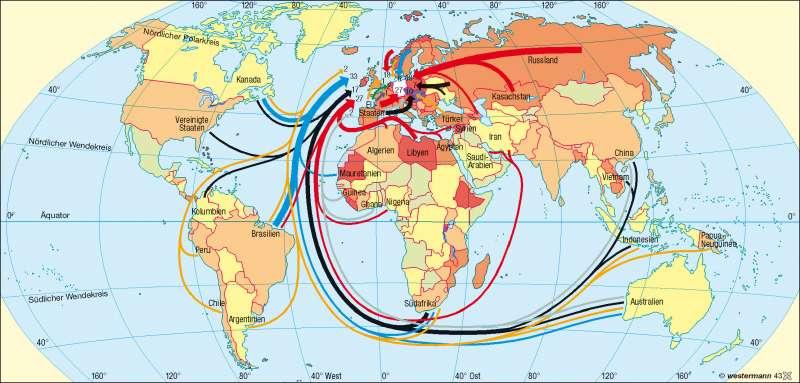 Deutschland | Rohstoffabhängigkeit | Erde – Welthandel | Karte 180/2
