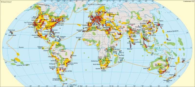Tourismusformen und Reiseziele |  | Erde - Tourismus | Karte 246/1