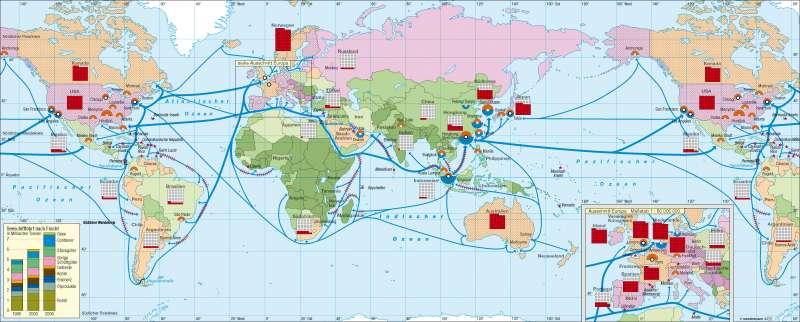 Globalisierte Wirtschaft |  | Erde - Globalisierung | Karte 248/1