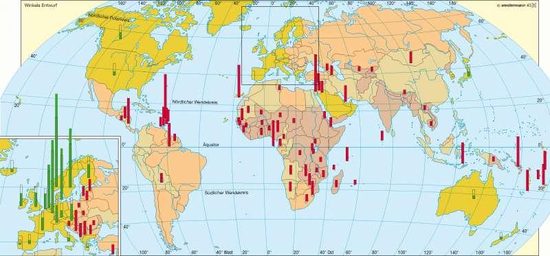 Wirtschaftskraft und Entwicklungshilfe |  | Erde - Entwicklungsstand | Karte 250/2