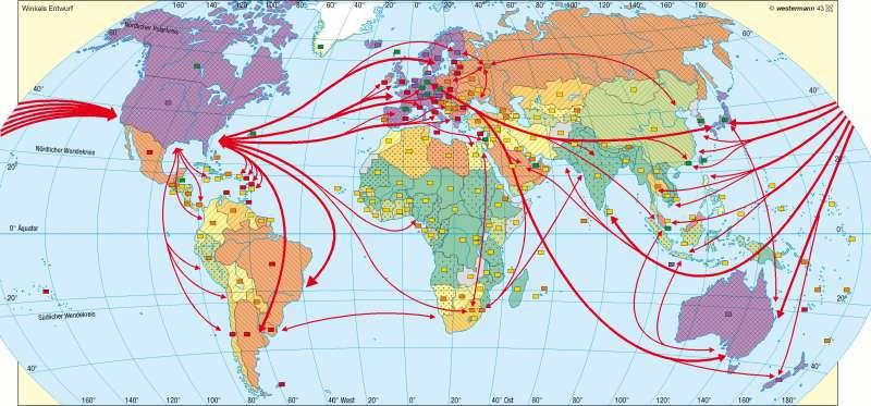 Verkehr und Kommunikation      Erde – Globalisierung   Karte 184/2