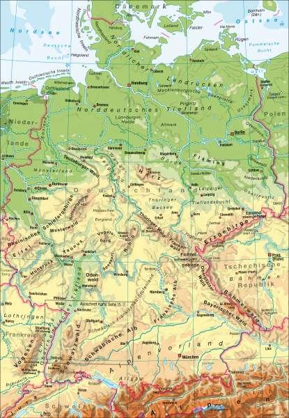 Deutschland | physisch | Deutschland – physisch | Karte 72/1