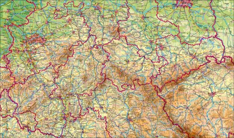 Deutschland mittlerer Teil | physisch | Deutschland – physisch | Karte 18/1
