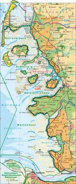 Wattenküste      Küstenlandschaften/Küstenformen   Karte 24/1