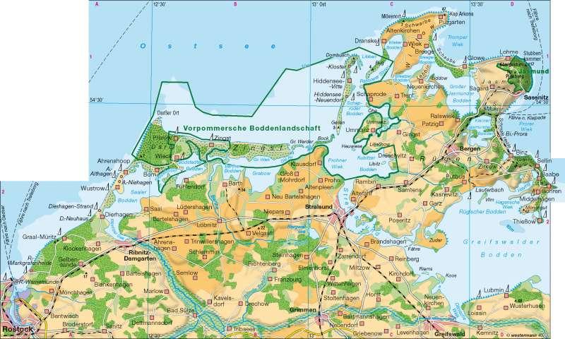 Diercke Weltatlas Kartenansicht Boddenkuste 100750 25