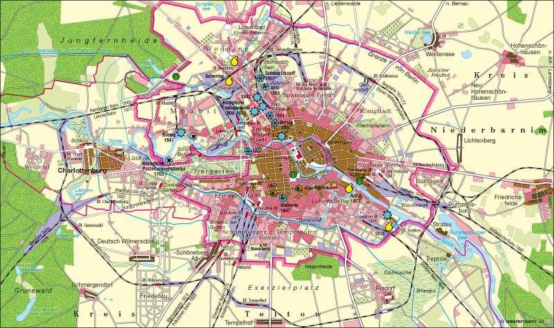 Berlin 1840-1880      Berlin   Karte 26/1