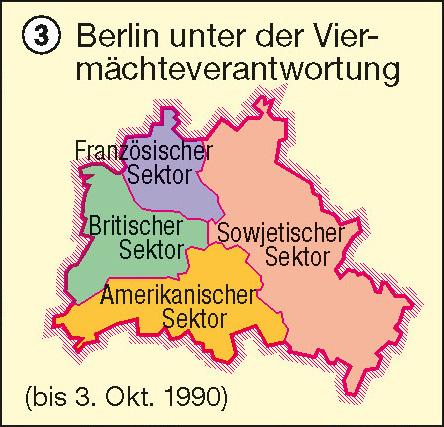 Berlin unter der Viermächteverantwortung |  | Berlin | Karte 26/3