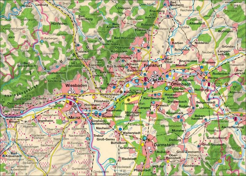 Rhein-Main | Wirtschaft | Wirtschaftsraum Rhein-Main | Karte 32/1