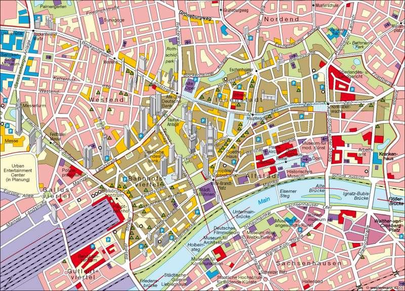 Diercke Weltatlas Kartenansicht Metropole Frankfurt 100750