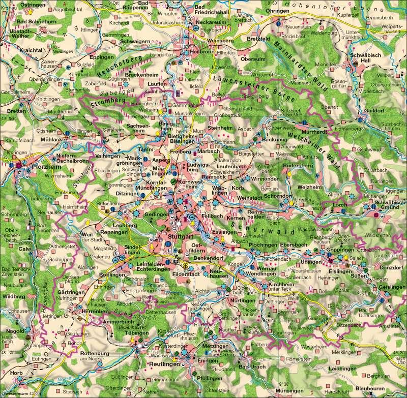 Wirtschaft |  | Wirtschaftsraum Region Stuttgart | Karte 33/2