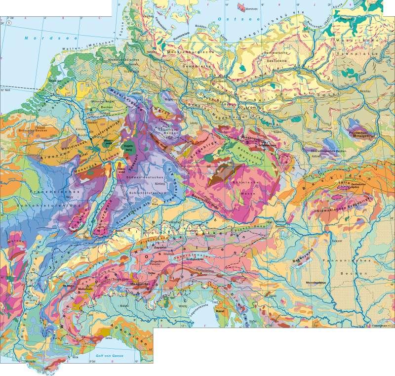 Deutschland/Mitteleuropa   Geologie   Deutschland – Geologie/Eiszeitformen   Karte 36/1