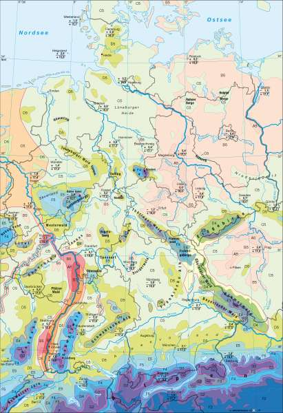 Diercke Weltatlas Kartenansicht Deutschland Klima 100750