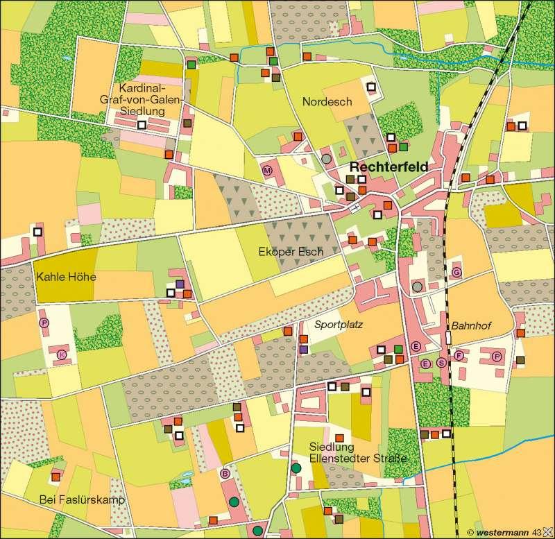 Rechterfeld | Veredelungsbetriebe | Deutschland – Landwirtschaft | Karte 43/3