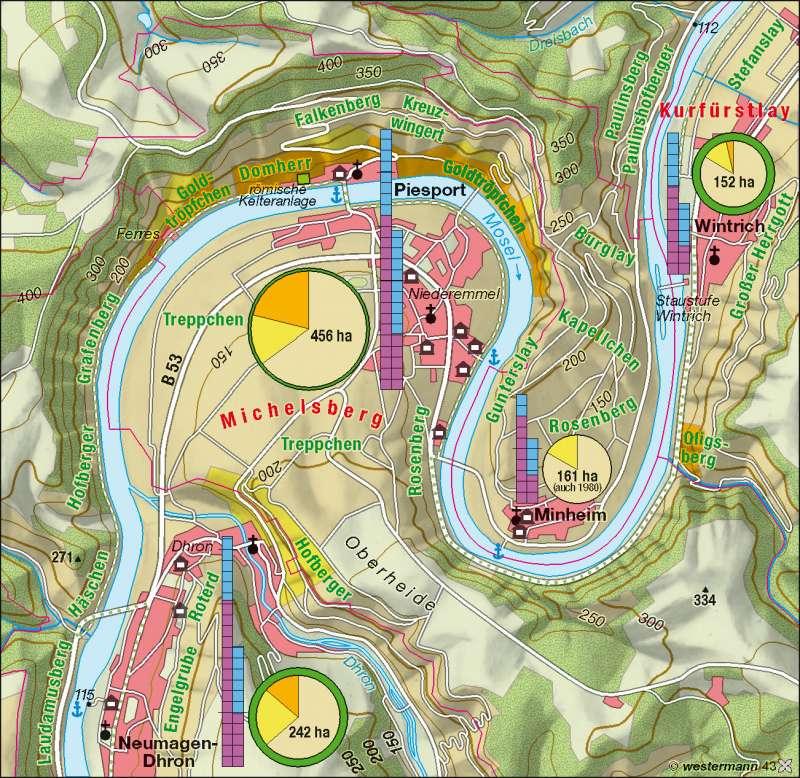 Mittelmosel | Weinbau | Deutschland – Landwirtschaft | Karte 43/4