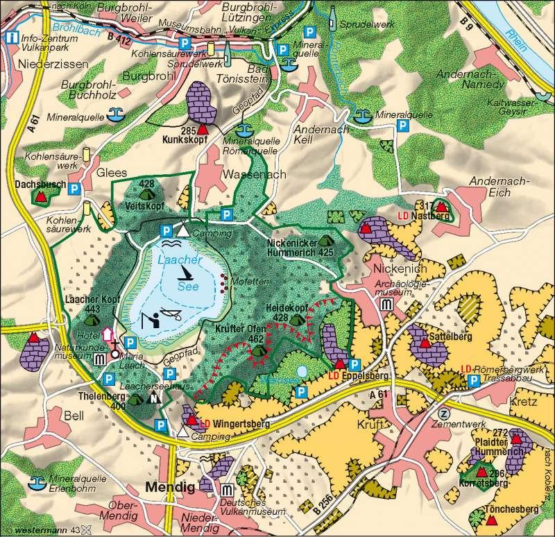 Laacher See | Vulkanregion/Nutzungskonflikte | Deutschland – Umwelt | Karte 45/3