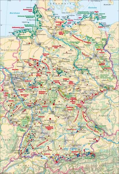 Deutschland   Tourismus   Deutschland – Tourismus   Karte 46/1